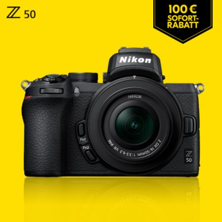 Nikon Z50 KIT DX 16-50/3.5-6.3 VR + FTZ Adapter, Nikon Sofort-Rabatt-Aktion
